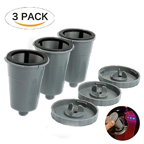Brewer B60 (Reusable K Cups For Keurig 1.0 Brewers Universal Fit For B30 B40 B50 B60 B70 Series, Easy To Use Refillable Single Cup Coffee Filters, Eco Friendly Stainless Steel Mesh Filter (Pack of 3))