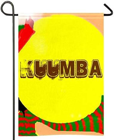 Bandera de jardín Happy Kwanzaa de dos caras de poliéster para decoración del hogar, 30,5 x 45,7 cm
