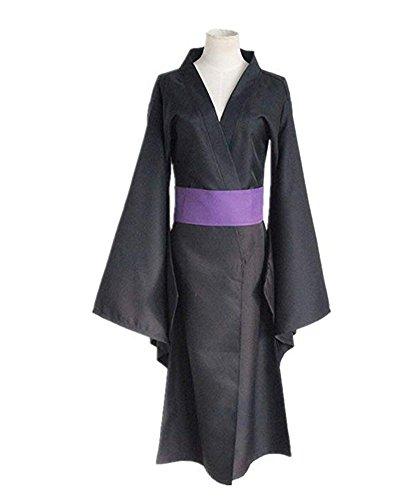 Yunbei Yato Kimono Halloween Cosplay Costume Black (XXL,