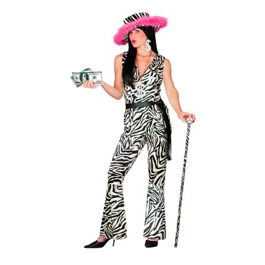 Pimp Zebra Womens Small Size Halloween Costumes 6-8 -