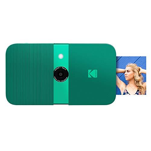 KODAK Smile Instant Print Digital Camera – Slide-Open 10MP Camera w/2×3 Zink Paper, Screen, Fixed Focus, Auto Flash & Photo Editing – Green