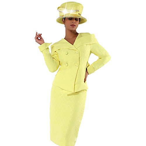 (Kueeni Women Church Suits With Hats Church Dress Suit For Ladies Formal Church Clothes,Black Suits)