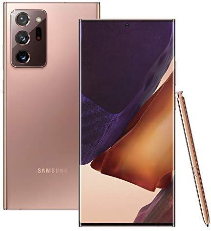 هاتف سامسونج Note20 Ultra 5g Sm N986b Ds Hybrid Sim Factory Unlocked Android Smartphone موديل المملكة المتحدة Mystic Bronze 256gb Amazon Ae