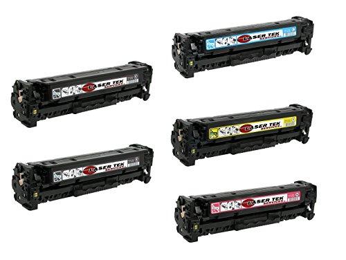 Laser Tek Services® 5 Pack Premium Compatible CB540A CB54...