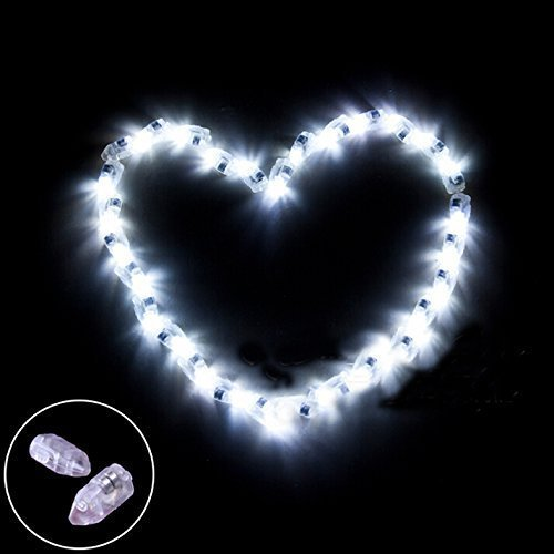 White Balloons With Led Lights - 9