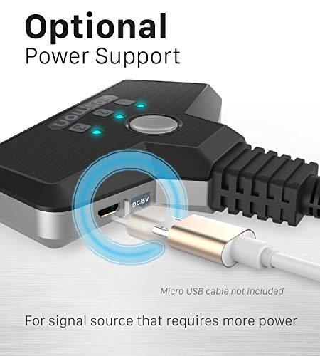 Fosmon 3-Porte Interruttore HDMI 4K 30Hz, 3x1 Switch HDMI Automatico Selettori Switcher Auto UHD HDR 3D Full HD 1080p… 6 spesavip