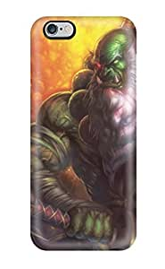 Rugged Skin Case Cover For Iphone 6 Plus- Eco-friendly Packaging(world Of Warcraft Orc) by runtopwell