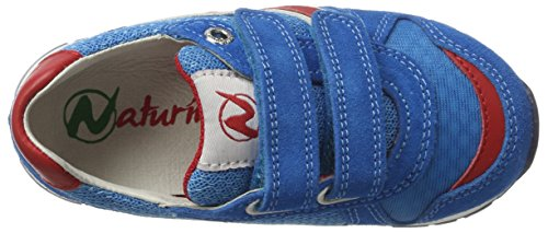 Naturino FAL001201111001, Zapatillas Niños Multicolor (Azul Claro/Rojo)