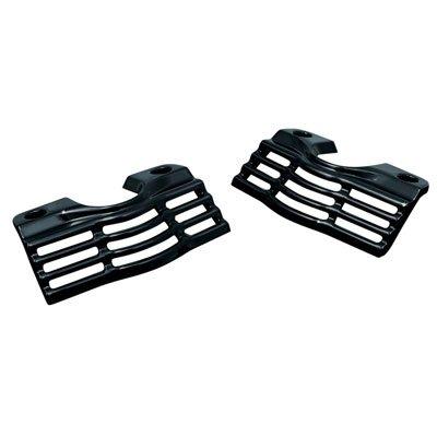 Kuryakyn 7243 Gloss Black Slotted Spark Plug Head Bolt Covers for Harley 99-14 FLH FLT FLHX - Covers Kuryakyn Bolt Head