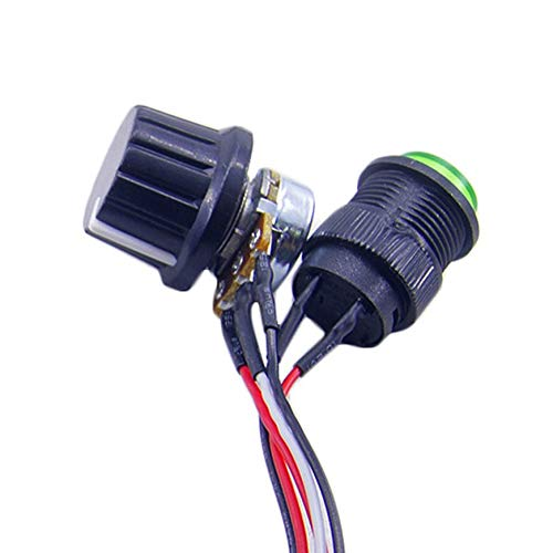 Color:multicolor Pudincoco DC6-30V 12V 24V Max 8A Motor PWM Speed Controller With Digital Display Switch