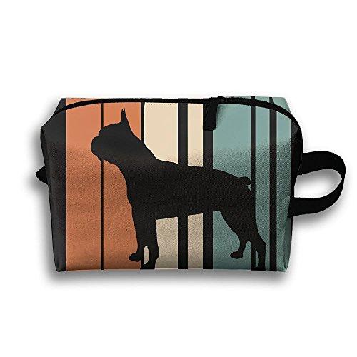 (Bing4Bing Travel Buggy Bag Toiletry Pouch Toiletry Bag Boston Terrier Dog Printing Zipper Clutch Bag Travel Bag)