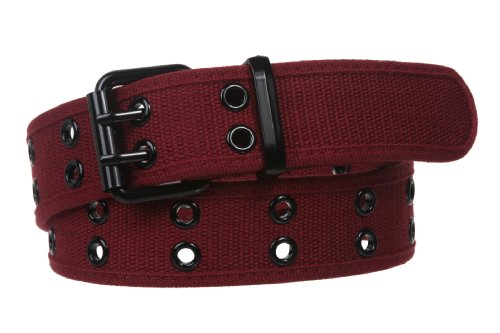 BELTISCOOL Double Hole Grommets Canvas Web Belt Size: M - 33