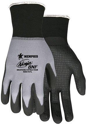 L Ninja BNF guantes con puntos (2 Packs; 12/Pack) - r3 ...