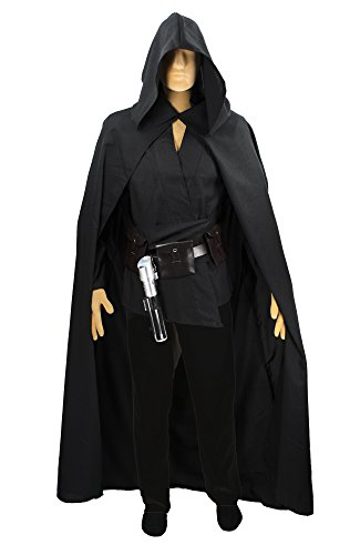 Men's Sith Cloak Costume Adult (Small - 48 in. from neck to bottom.) (Adult Luke Skywalker Costume)