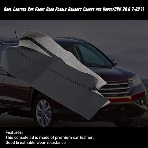 gfjfghfjfh 1 par Izquierdo y Derecho Paneles de Puerta Delantera del Coche de Cuero Real de la PU Reposabrazos Cubiertas para Honda//CRV 2007-2011