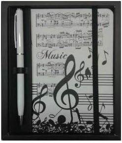 Quaderno con boli motivo Note musicali chiave di violino
