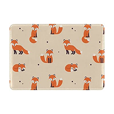 Cooper girl Cute Cartoon Foxes Passport Cover Holder Case Leather Protector  for Men Women Kid chic beaec9aed08fd