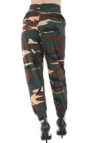 GW CLASSYOUTFIT® - Pantalón - para mujer Army Print