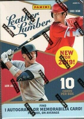 2019 Panini Leather & Lumber Baseball BLASTER box (10 cards incl. ONE Memorabilia or Autograph ()