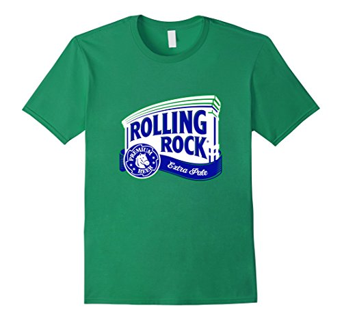 Mens Rolling Rock Logo T-Shirt Small Kelly Green