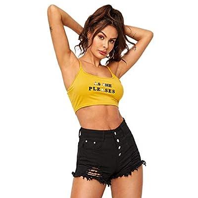 MakeMeChic Women's Cutoff Pocket Distressed Ripped Jean Denim Shorts at Women's Clothing store