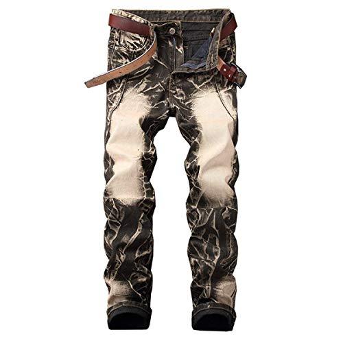 Suaves La Pretina De Retroyellow Hombres Cintura Pantalones Vaqueros Cómodos Estiramiento Mediados Los Único Sin Rectos Biran Mezclilla f8Zqw7