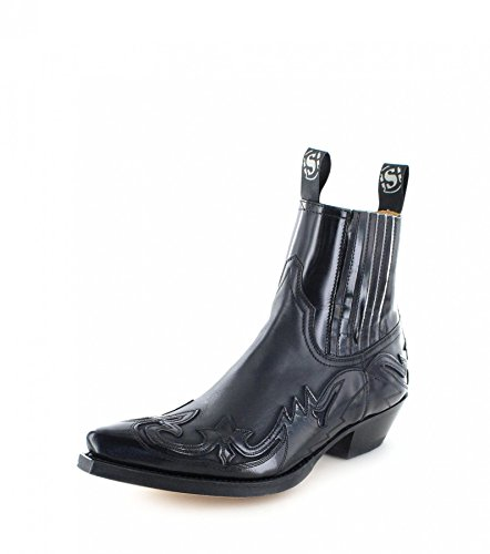 Nero 4660 uomo Sendra Negro Stivali western Boots Flo 8pOzSX