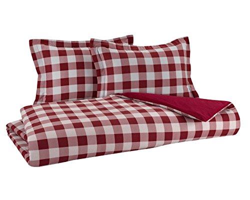 DELANNA Flannel Reversible Duvet Cover Set 100% Cotton 1 Duvet Cover 86