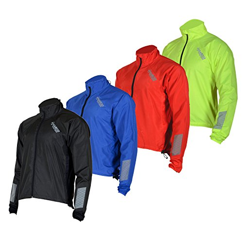 (Zimco Cycle wear Zimco Showerproof/Windproof Cycling Jacket Bicycle Rain Jacket Bike Rain (Red, Medium))