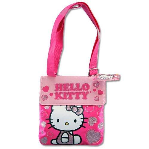 Passport Bag - Hello Kitty - Pink Glitter
