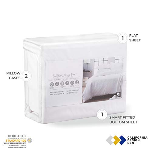 400 Thread Count 100 Cotton bed-sheet Sheet Pillowcase Sets