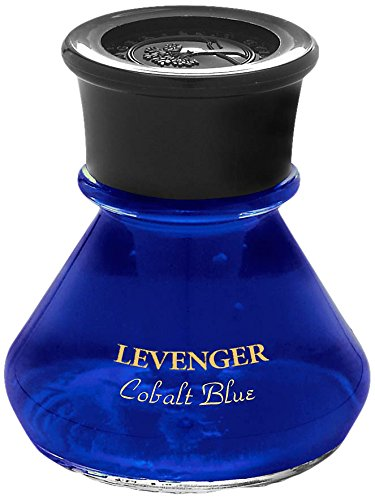 Levenger Bottled Ink - Levenger Smooth and Rich Bottled Ink, Bottled Pen Ink, Cobalt Blue (PR2140 CB)