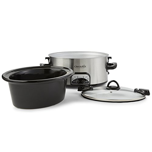 Crock-Pot SCCPVL605-S 6-Quart Programmable Cook & Carry Oval Slow Cooker, Stainless Steel by Crock-Pot (Image #2)