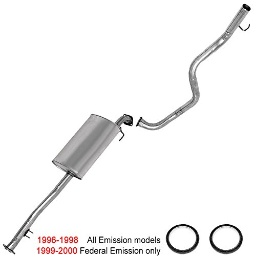 resonator muffler tailpipe exhaust system kit fits: 1996-2000 Toyota 4Runner - System Muffler Back