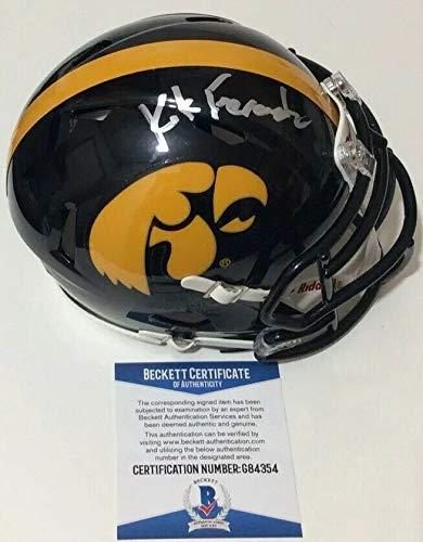 - Kirk Ferentz Autographed Signed Memorabilia Iowa Hawkeyes Speed Mini Helmet - Beckett Authentic