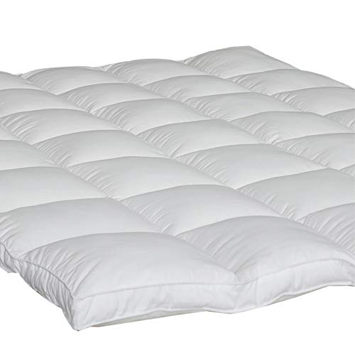 Twin Mattress Topper Down Alternative - DUO-V Home Plush Pillow Top Mattress Cover Hypoallergenic 2' Thick Overfilled, Fluffy and Firm with 4 Straps Hotel Quality(39'x75')