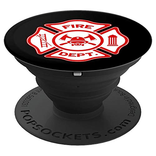 Fireman Badge Party Uniform Costume Kids Men Women - PopSockets Grip and Stand for Phones and Tablets