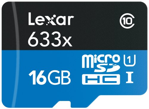 Lexar High-Performance microSDHC 633x 16GB UHS-I/U1 w/USB 3.