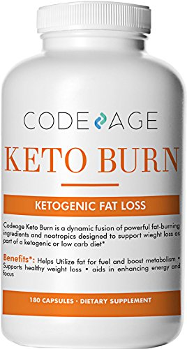 Keto Burn Capsules – 180 Count – Ketogenic Supplement for Keto Diet, Low-Carb Diet with L-Theanine, Bacopa Monnieri, White Willow More