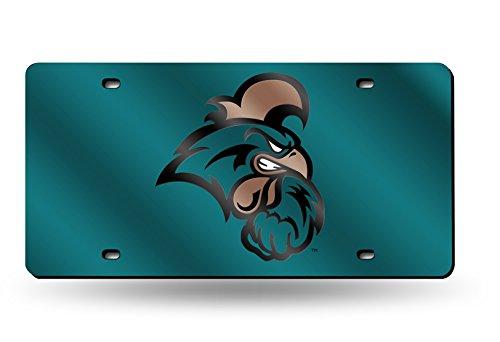 Logo Gametime Watch - NCAA Coastal Carolina Chanticleers Laser Inlaid Metal License Plate Tag, Teal