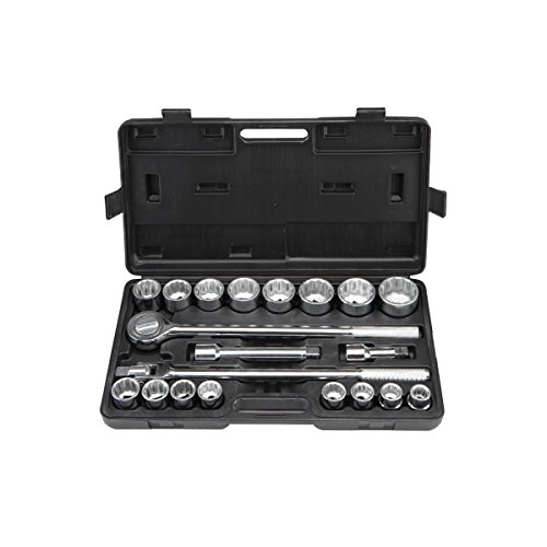 - 3/4 in. Jumbo Heavy Duty Metric Socket Set 20 Pc