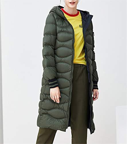 Ligera Largo Invierno Abrigo Viajar Parka Armygreen Chaqueta De Plumón Cálido Outwear Mujer Para Kitrack w1tRqn