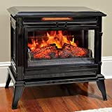Comfort Smart Jackson Infrared Electric Fireplace Stove Heater, Black - CS-25IR-BLK