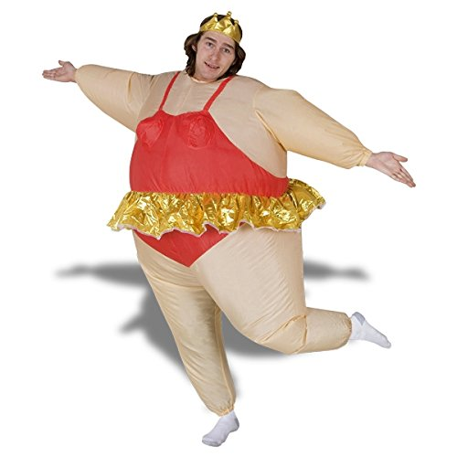 inflatable ballerina costume dancer costume with crown - Inflatable Ballerina