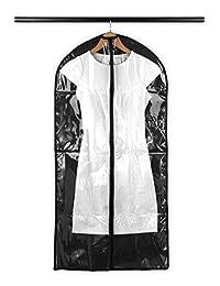 Containers By Aline -Cubre trajes y vestidos largos- Protector de polvo para las prendas de vestir para el clóset- Almacenamiento de vestidos