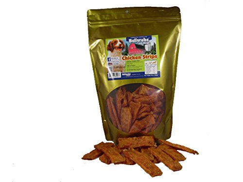 - Bellyrubs Chicken Strips Dog Jerky Treats, 20 oz