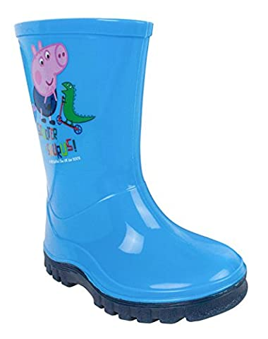 Peppa Pig George Scooter-Saurus Boy's Wellies (4 UK Kids) (Peppa Pig George Boots)