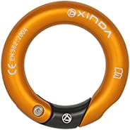 Fancyes Rappel Ring 23KN for Rock Climbing Arborist Hammock Pack, O Ring Connector Belay and Rappel Accessorie