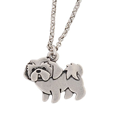 Cute Vintage Shih Tzu Dog Pendant Necklace