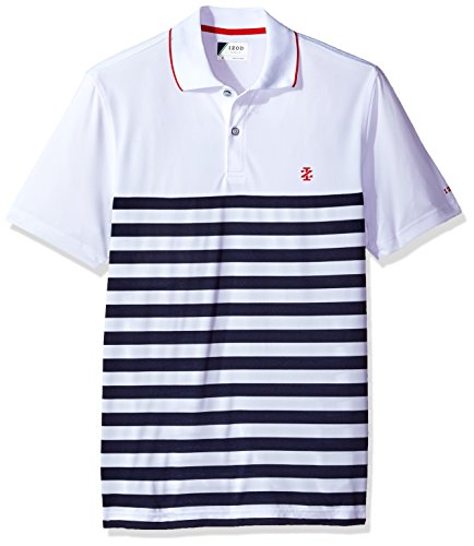 Performance Mens Golf Polo (IZOD Men's Performance Golf Polo, Performance Bright White, Large)